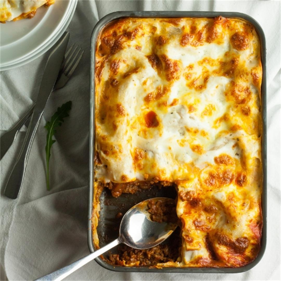 Easy Lasagne with a Cheat's White Sauce
