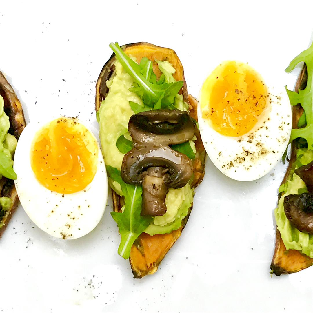 Avocado on Sweet Potato Toast – Paleo/Gluten-Free/Vegetarian