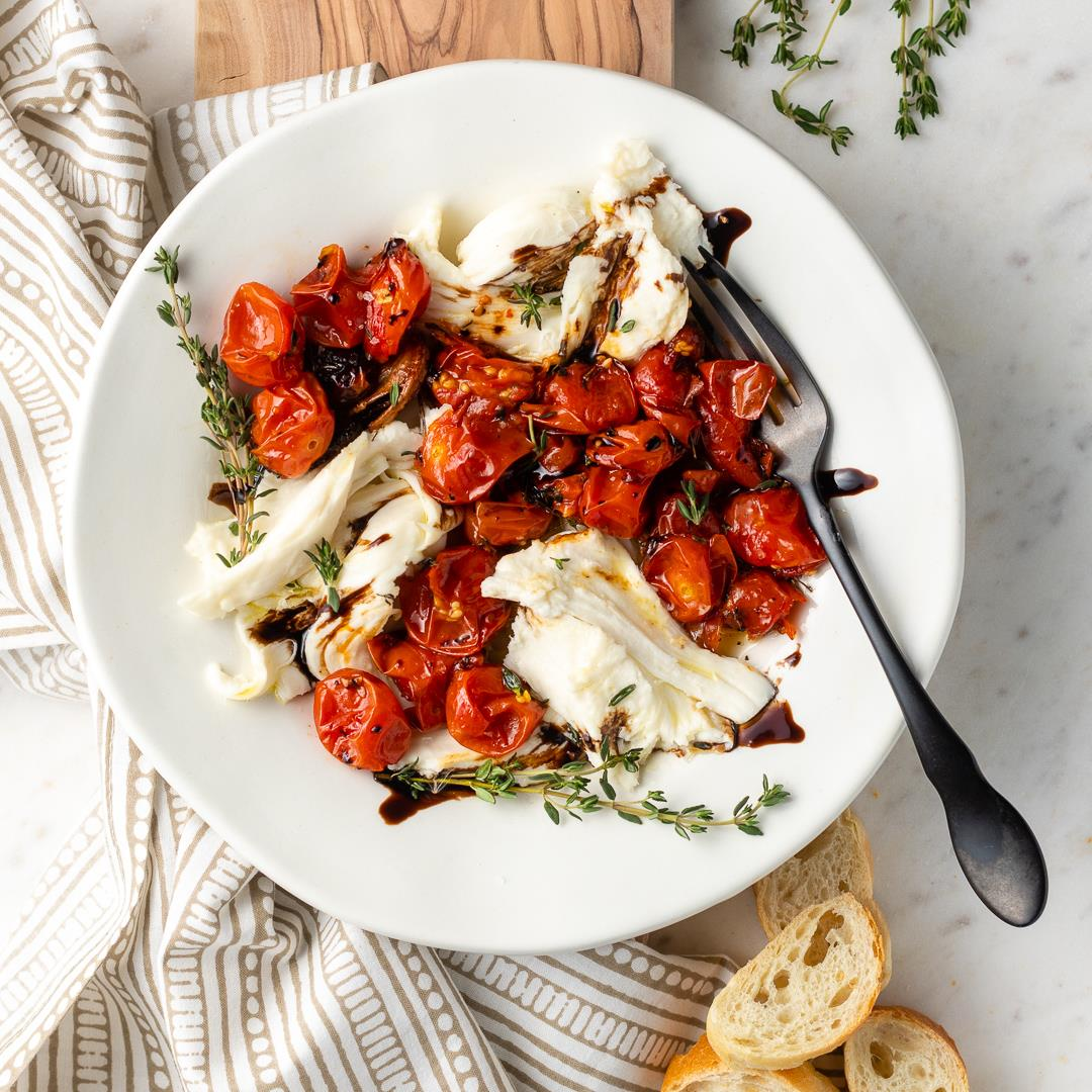 Roasted Tomato Winter Caprese