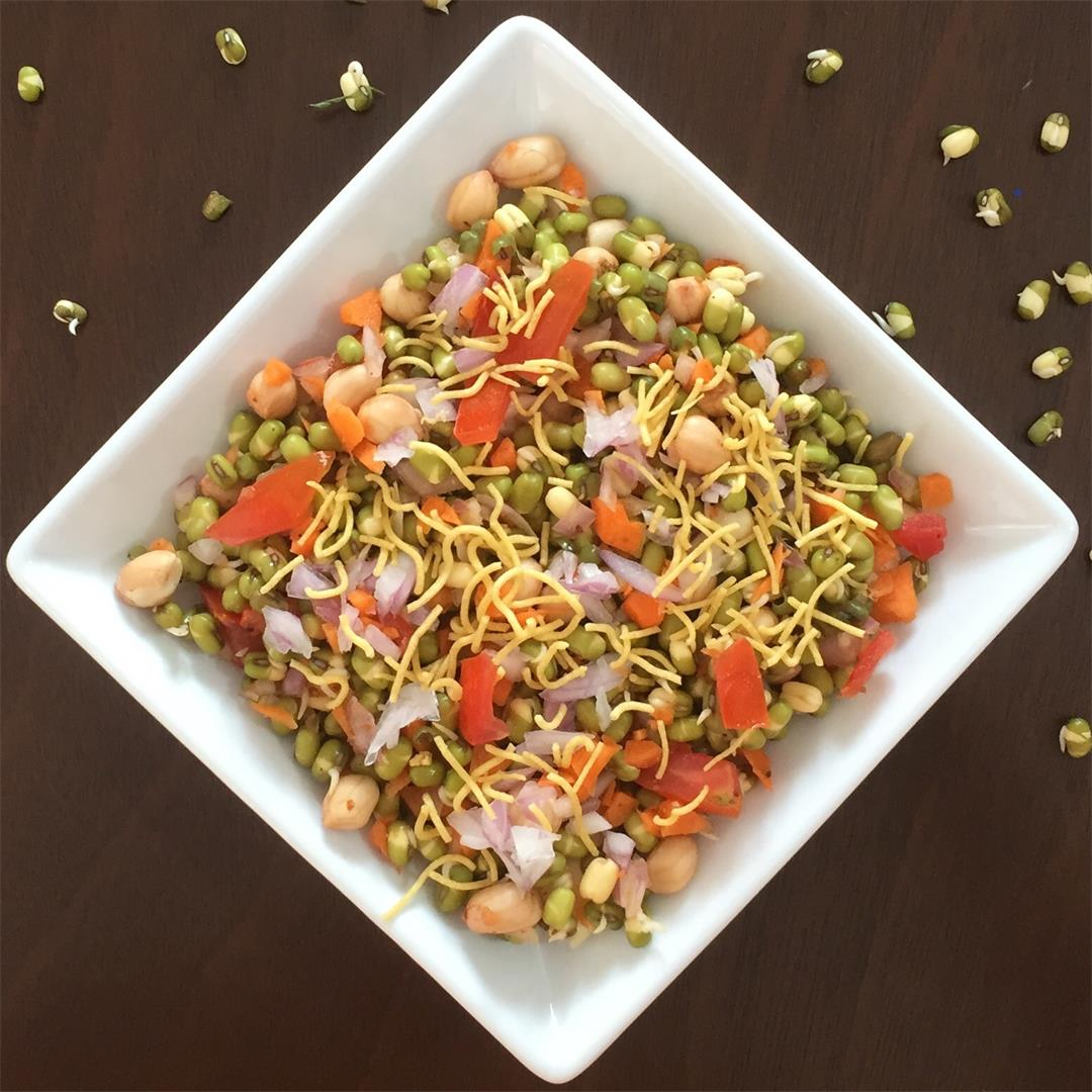 Protein rich masala sprouts
