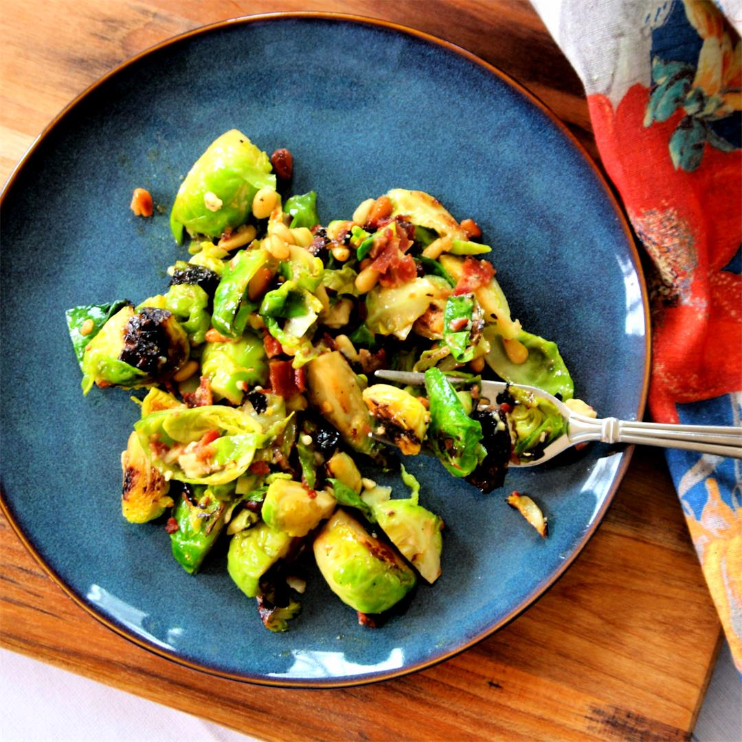 Pan-Seared Brussels Sprouts