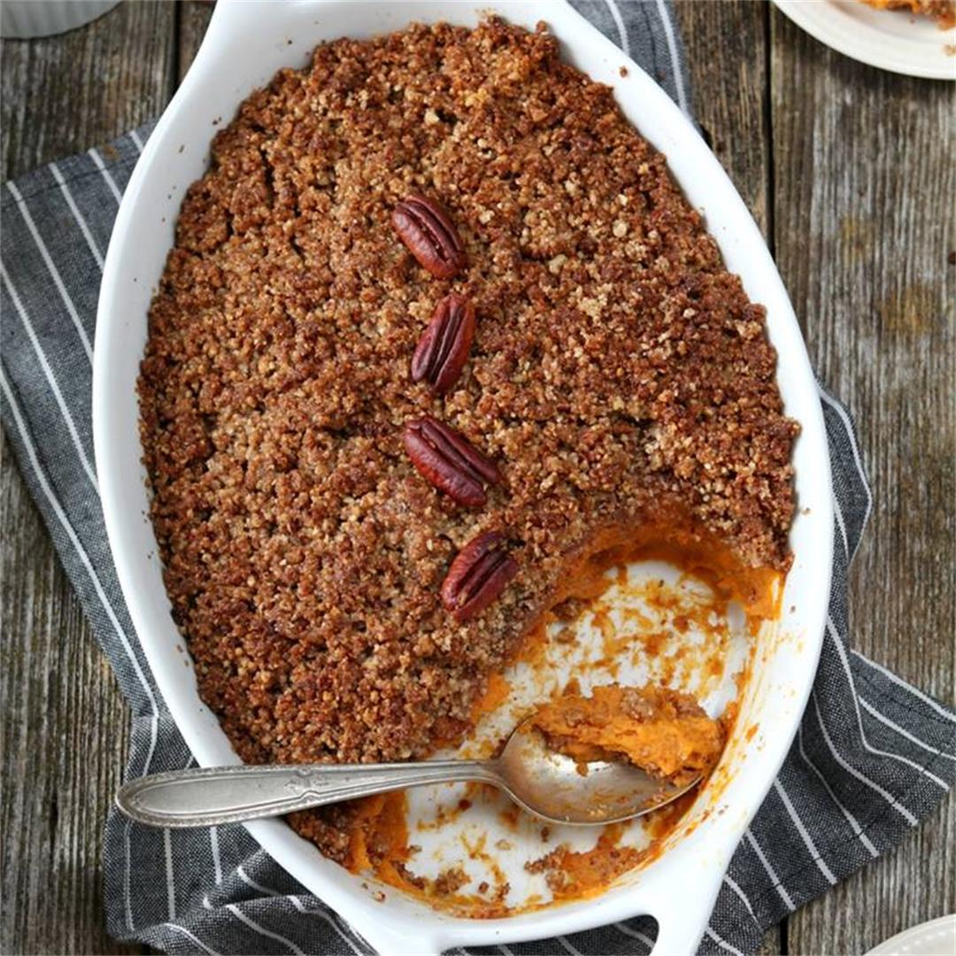 Vegan Sweet Potato Casserole