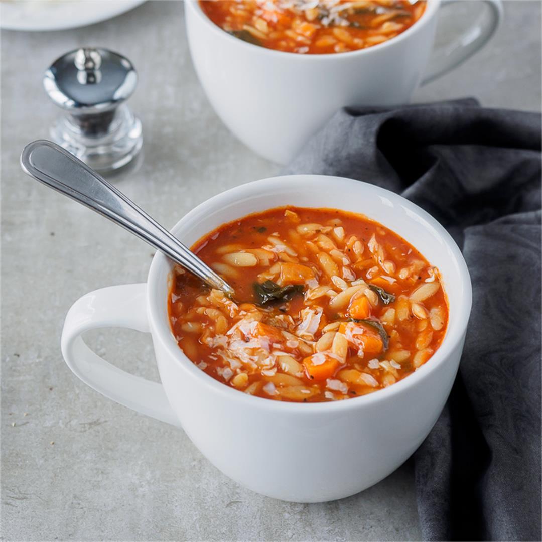 Tomato Orzo Soup