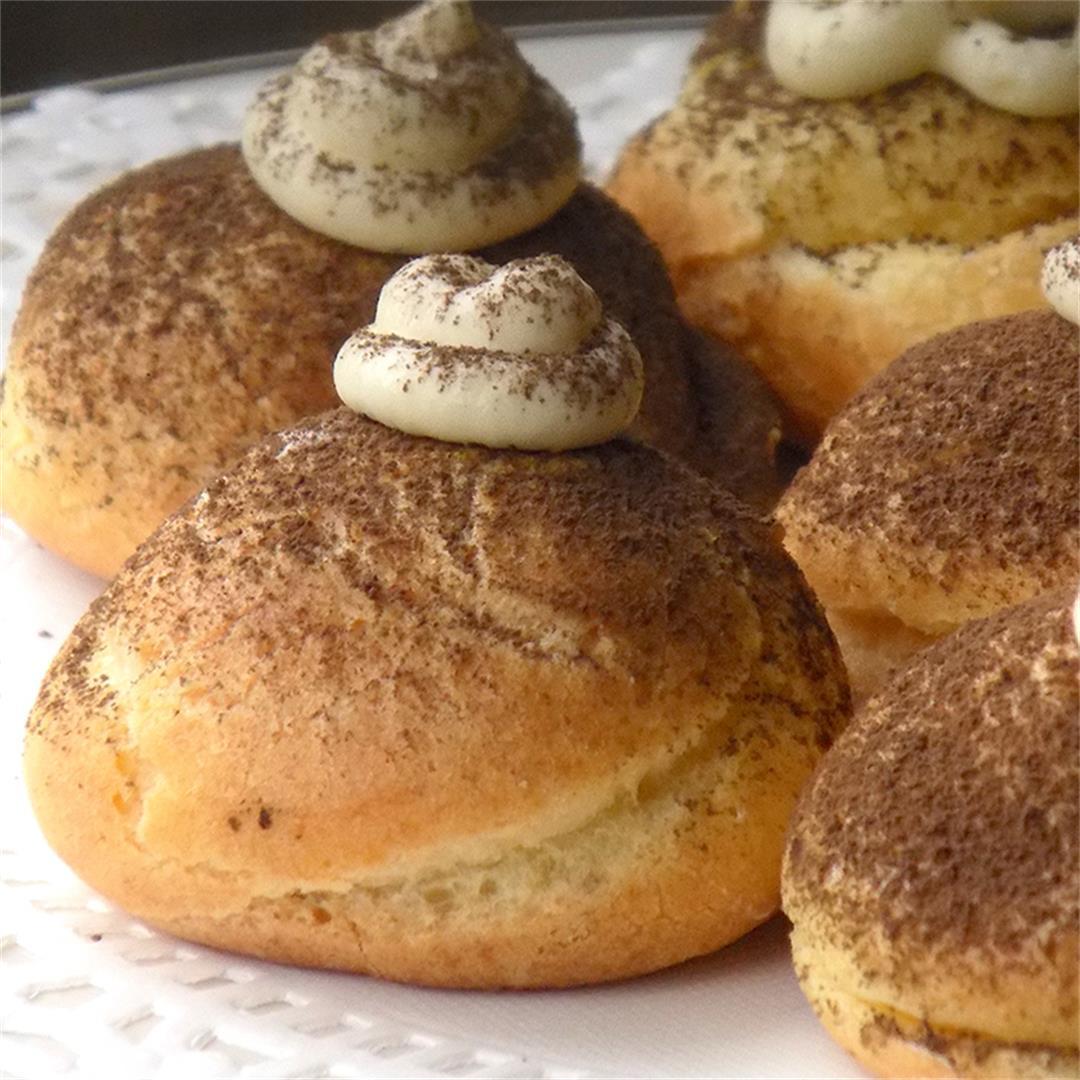 Bigne`-Choux Pastry-with Tiramisu`Mascarpone Cream
