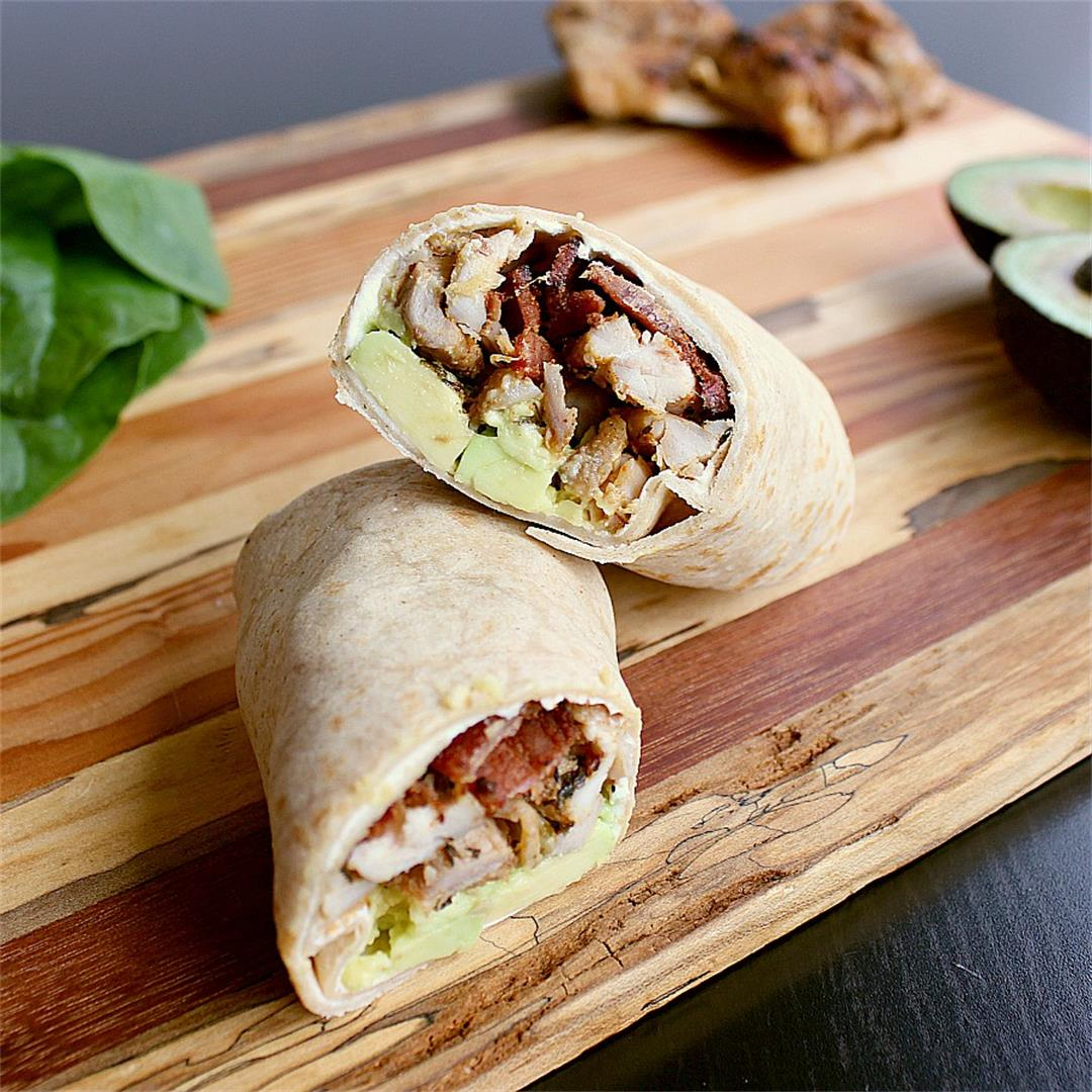 Low Carb Chicken Wrap with Bacon and Avocado