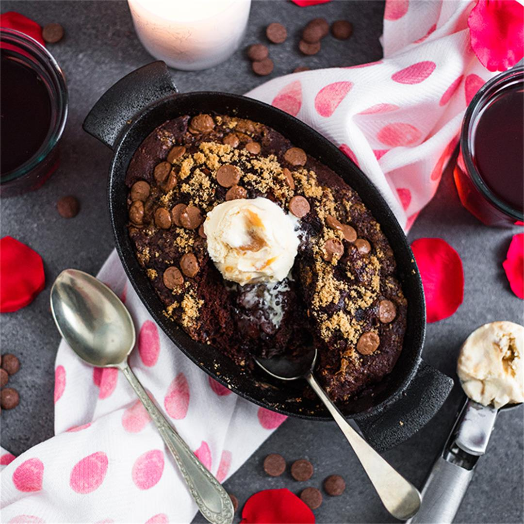 Baked Chocolate Pudding for Two