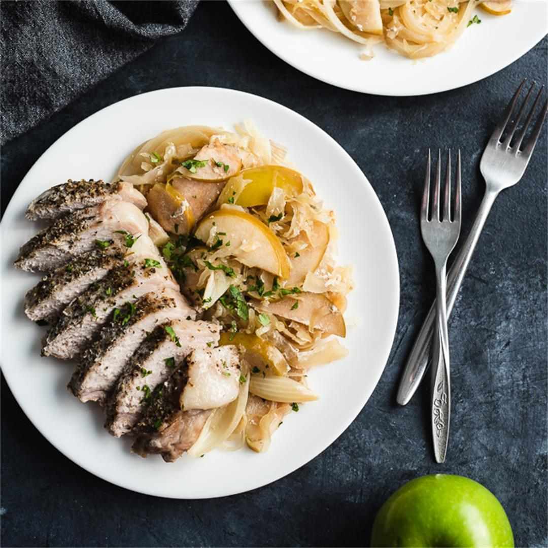 Slow Cooker Pork Chops w/ Apples