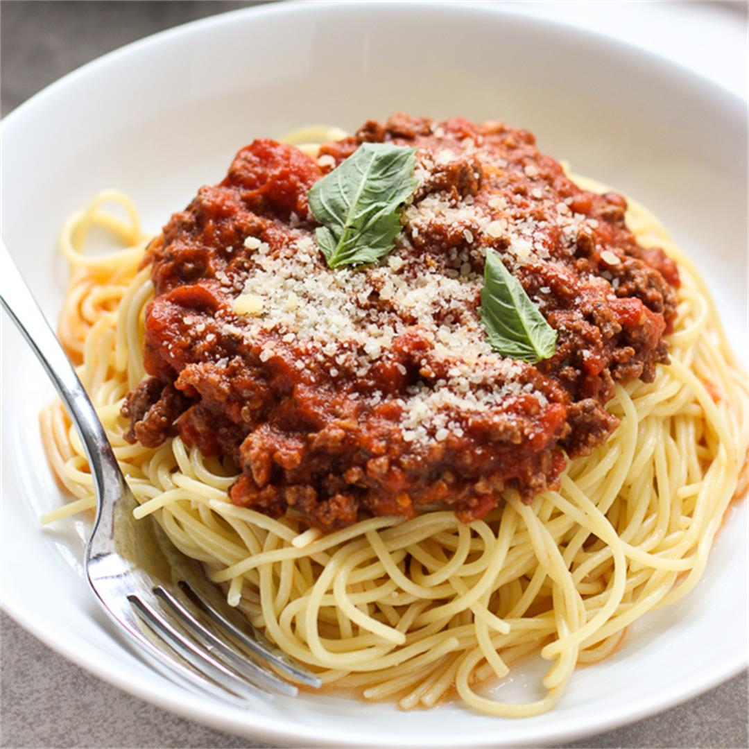The Best Spaghetti and Meat Sauce