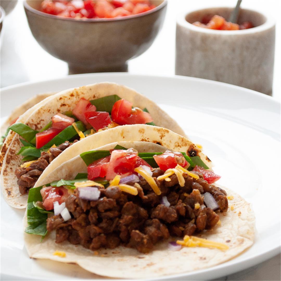 Instant Pot Lentil Tacos