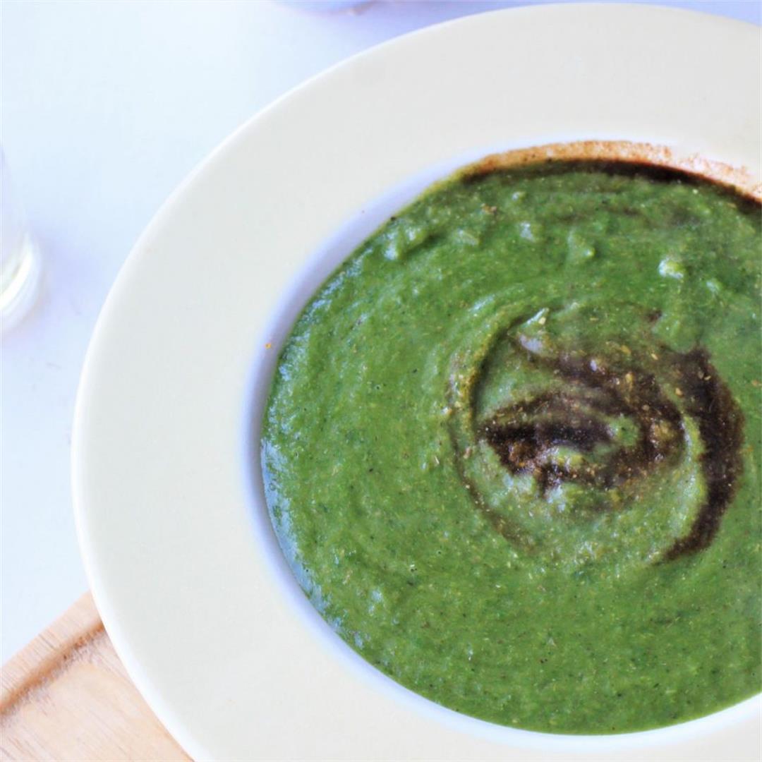 Green Winter Vegetable Soup (Vegan, GF)