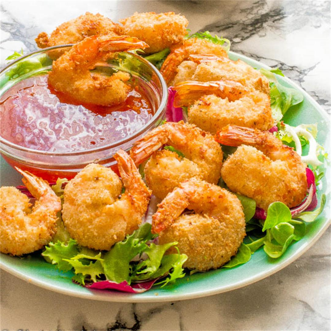 Delicious shrimp cooked in an air fryer