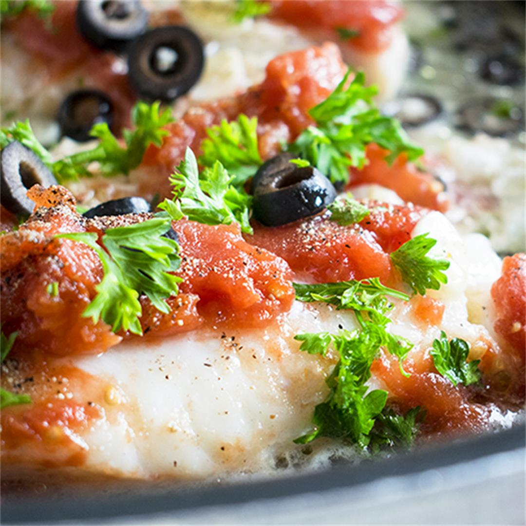 Sautéed Cod with Tomatoes