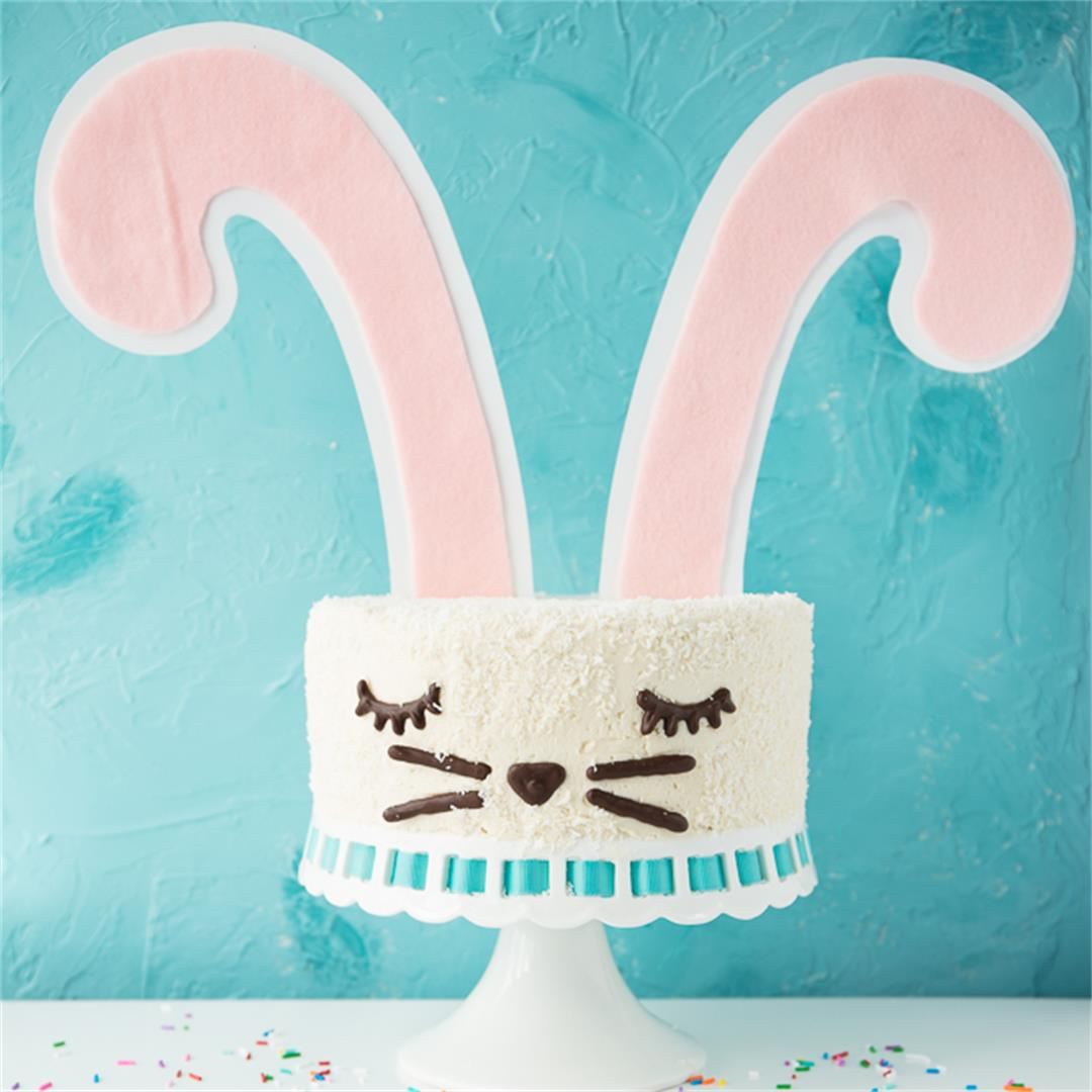 Vegan Funfetti Bunny Cake
