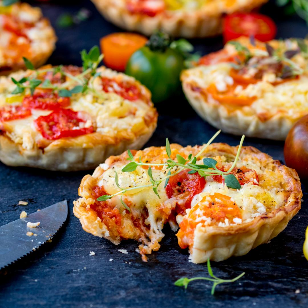 Tomato Ragu and Cheese Tarts