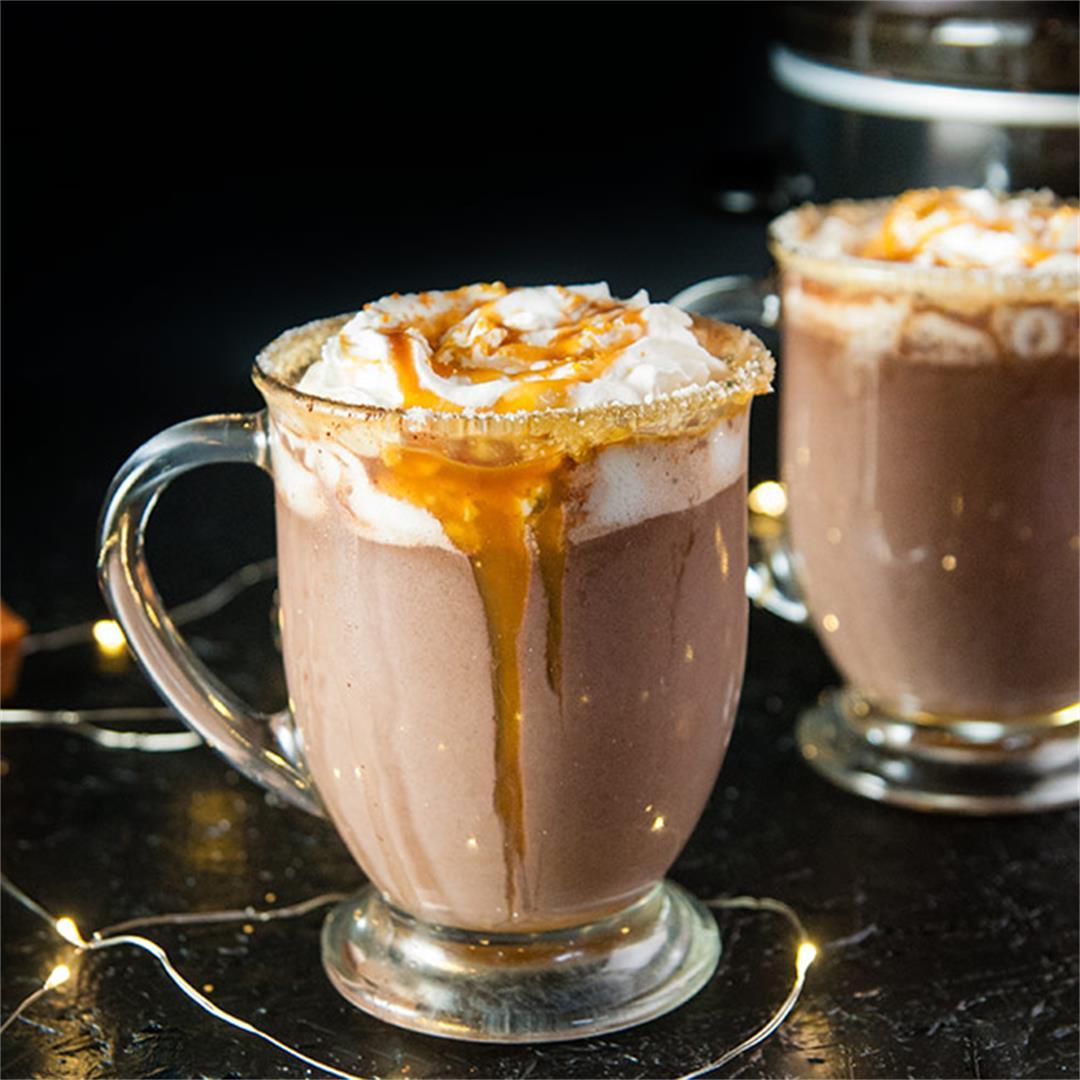 Crockpot Salted Caramel Hot Cocoa