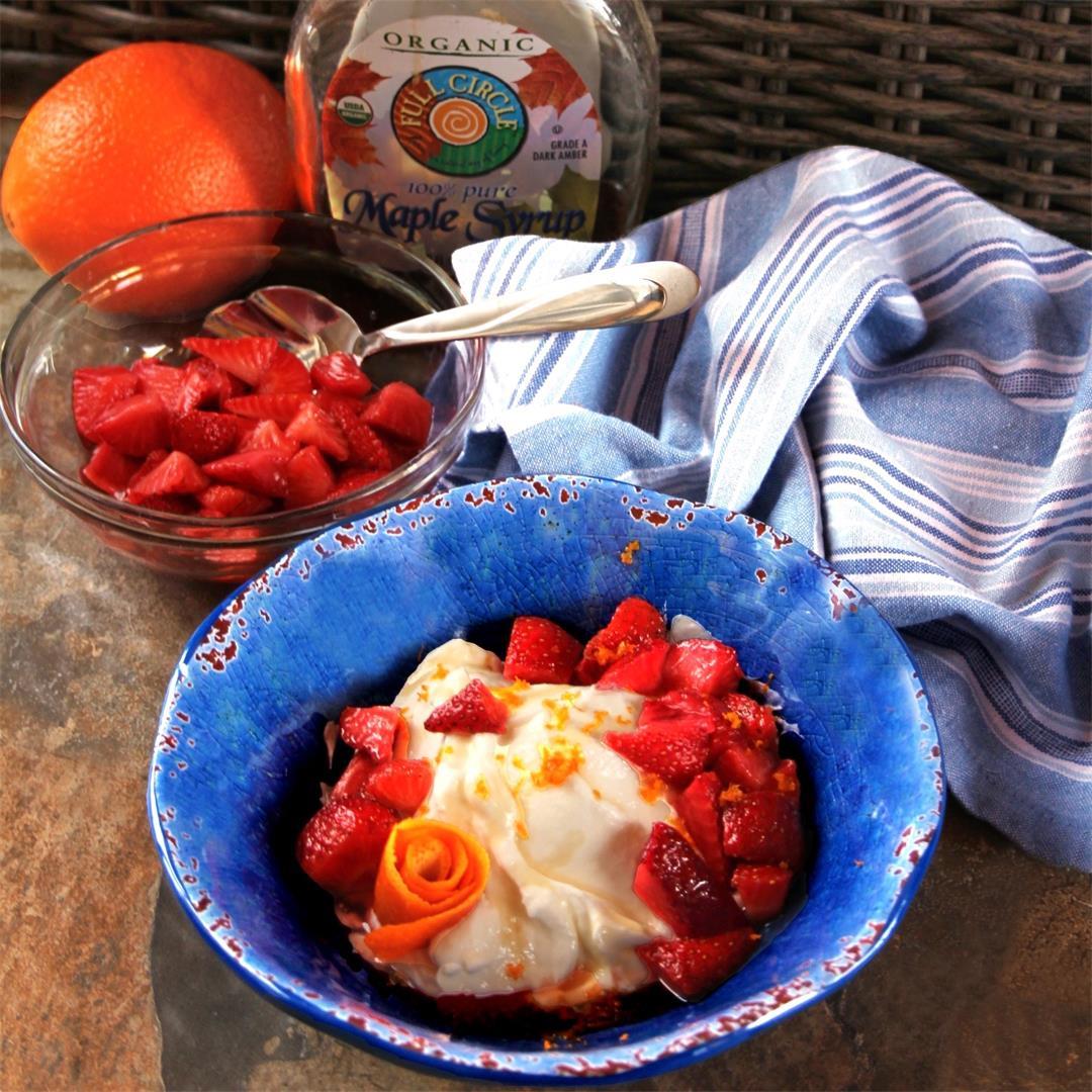 Orange-Strawberry Yogurt Dessert Bowls