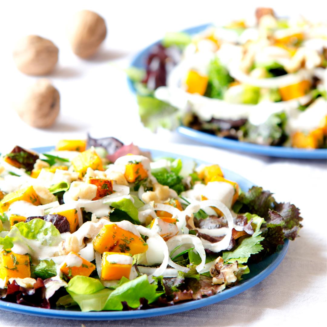 Butternut Salad w/ Maple Sun Dressing