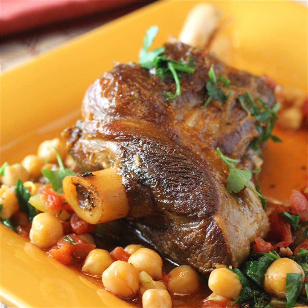 Greek Braised Lamb Shanks