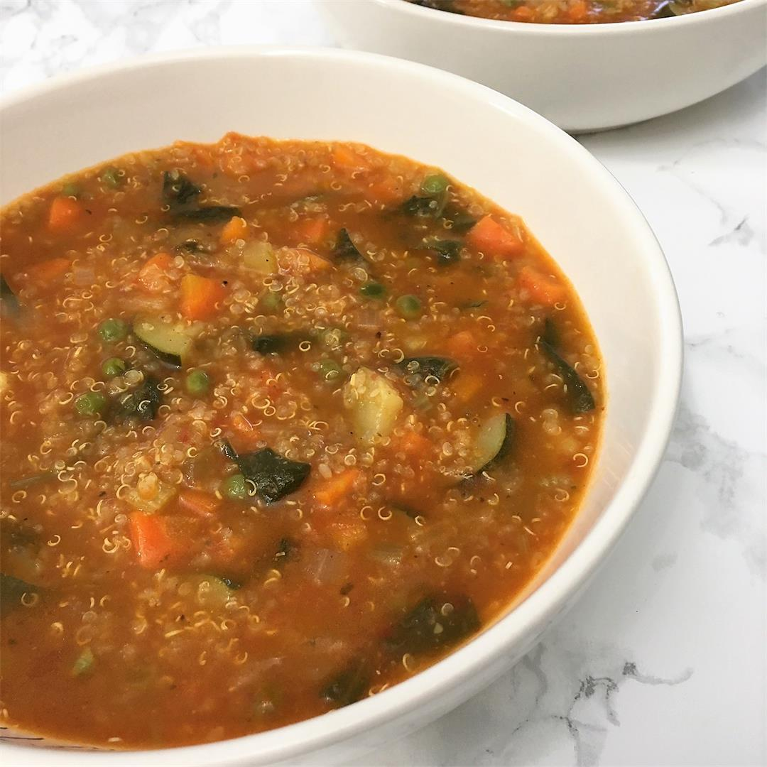 Instant Pot Vegetable Soup with Quinoa