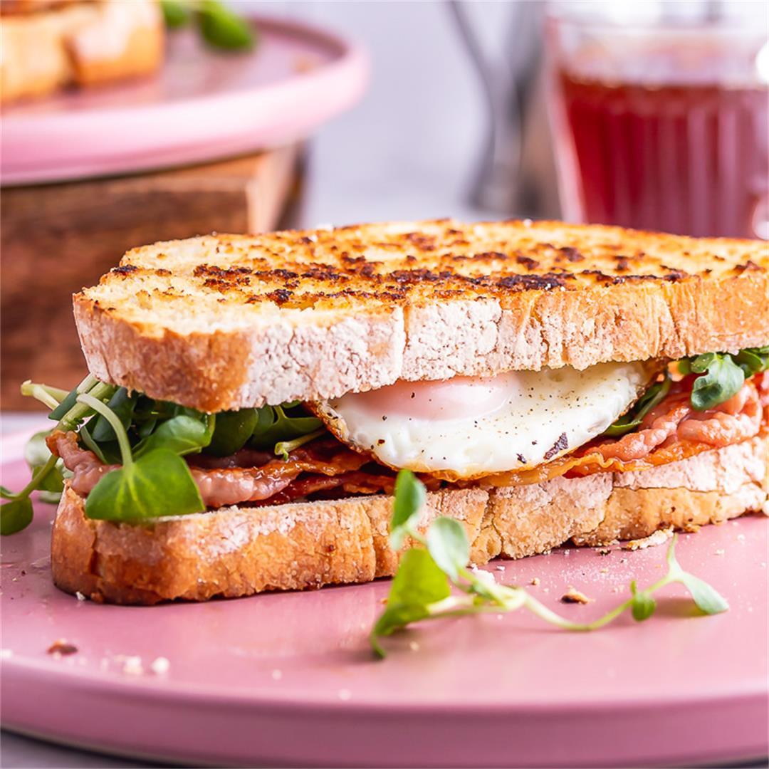 Breakfast Sandwich with Prosciutto & Watercress