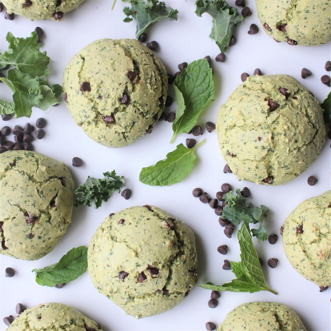 Mint Chocolate Chip Cookies (Gluten-Free & Dairy-Free)