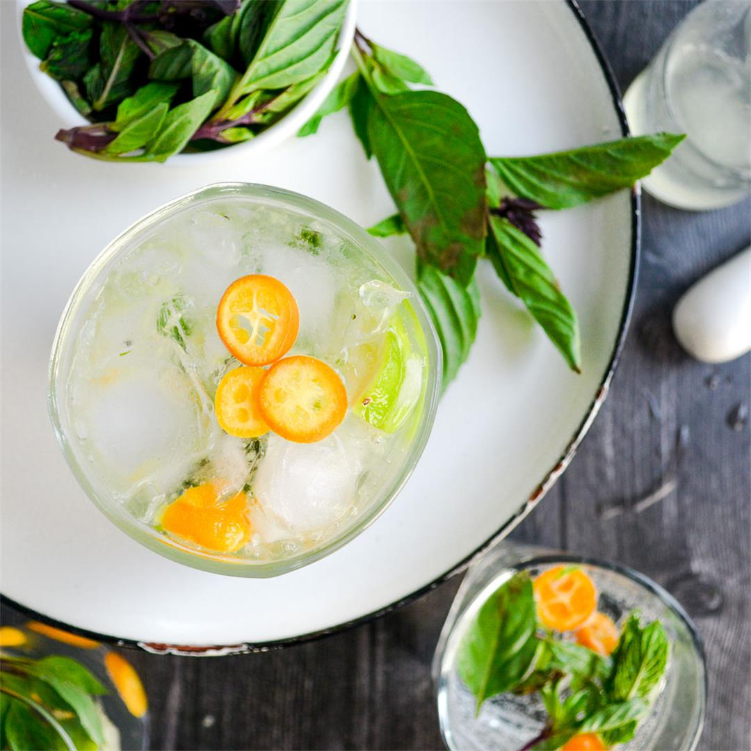 Thai Basil & Kumquat Mojitos