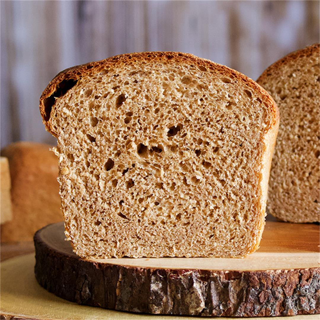 Simple Homemade Whole Wheat Bread