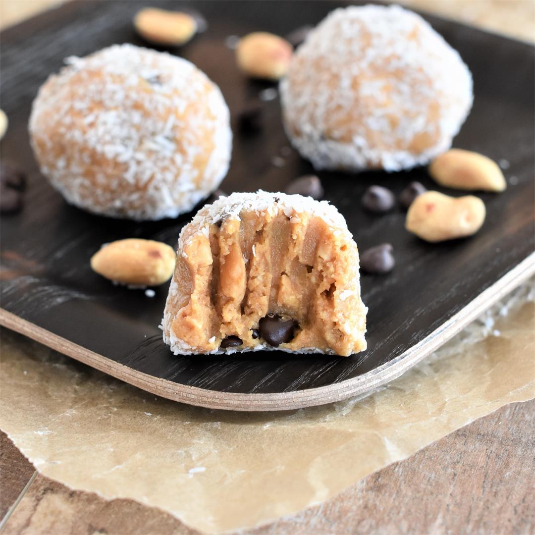 No-Bake Peanut Butter Energy Balls [GF, Vegan]