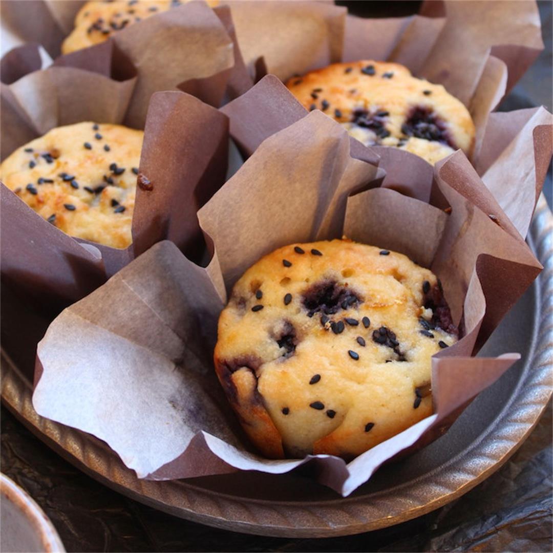 Healthy Lemon Blueberry Muffins (gluten-free, sugar-free)