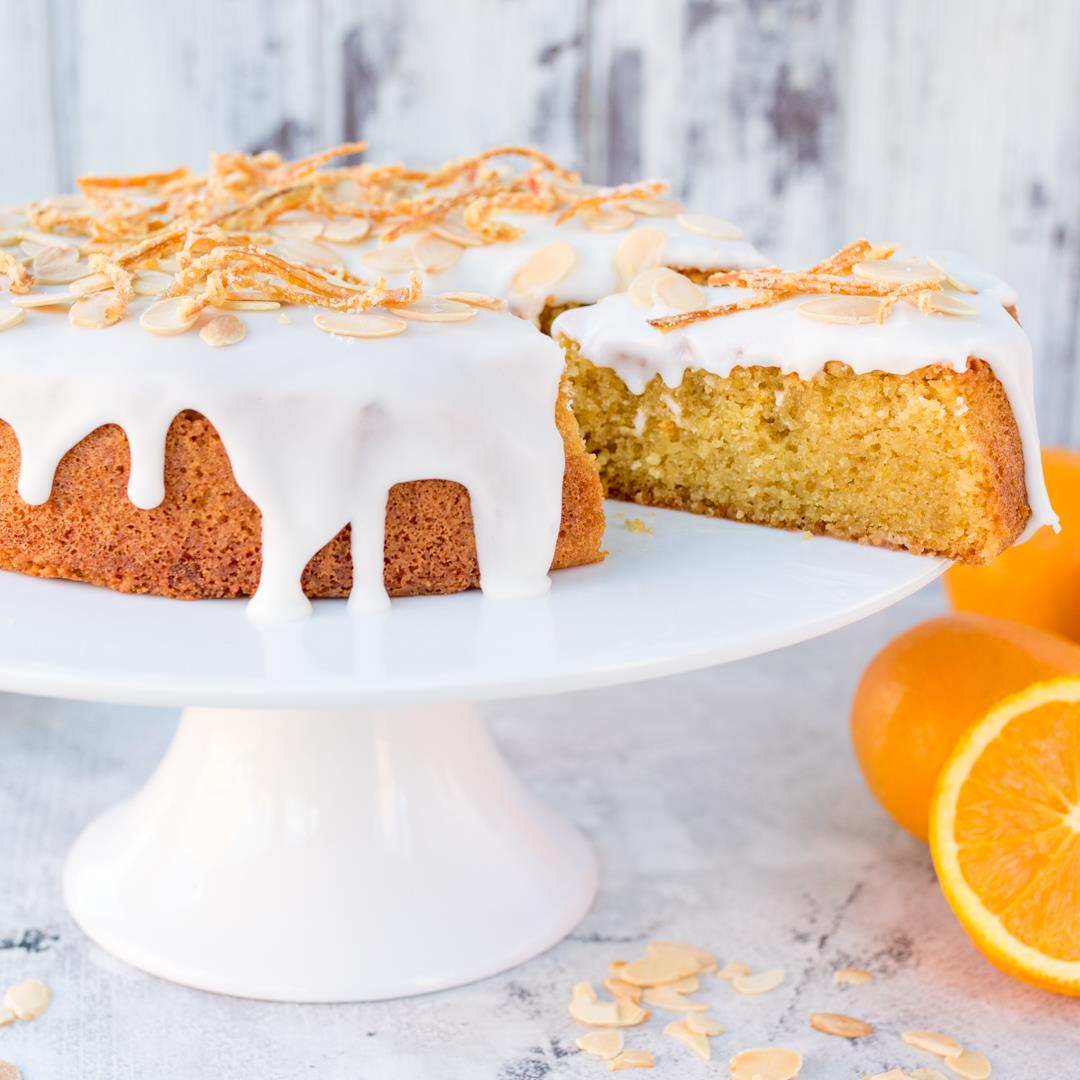 Orange Drizzle Cake with Candied Peel