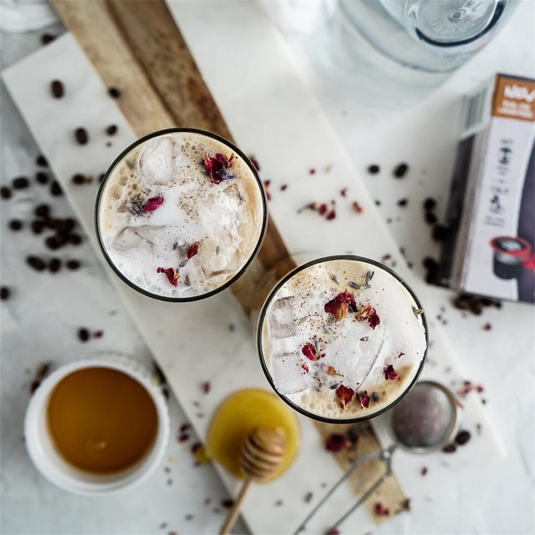 Lavender cold brew latte
