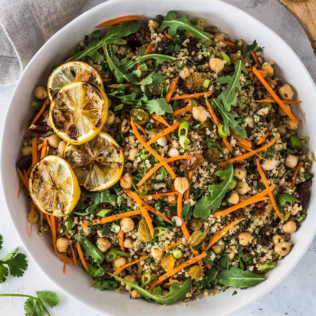 Moroccan Quinoa Salad with Creamy Curry Dressing