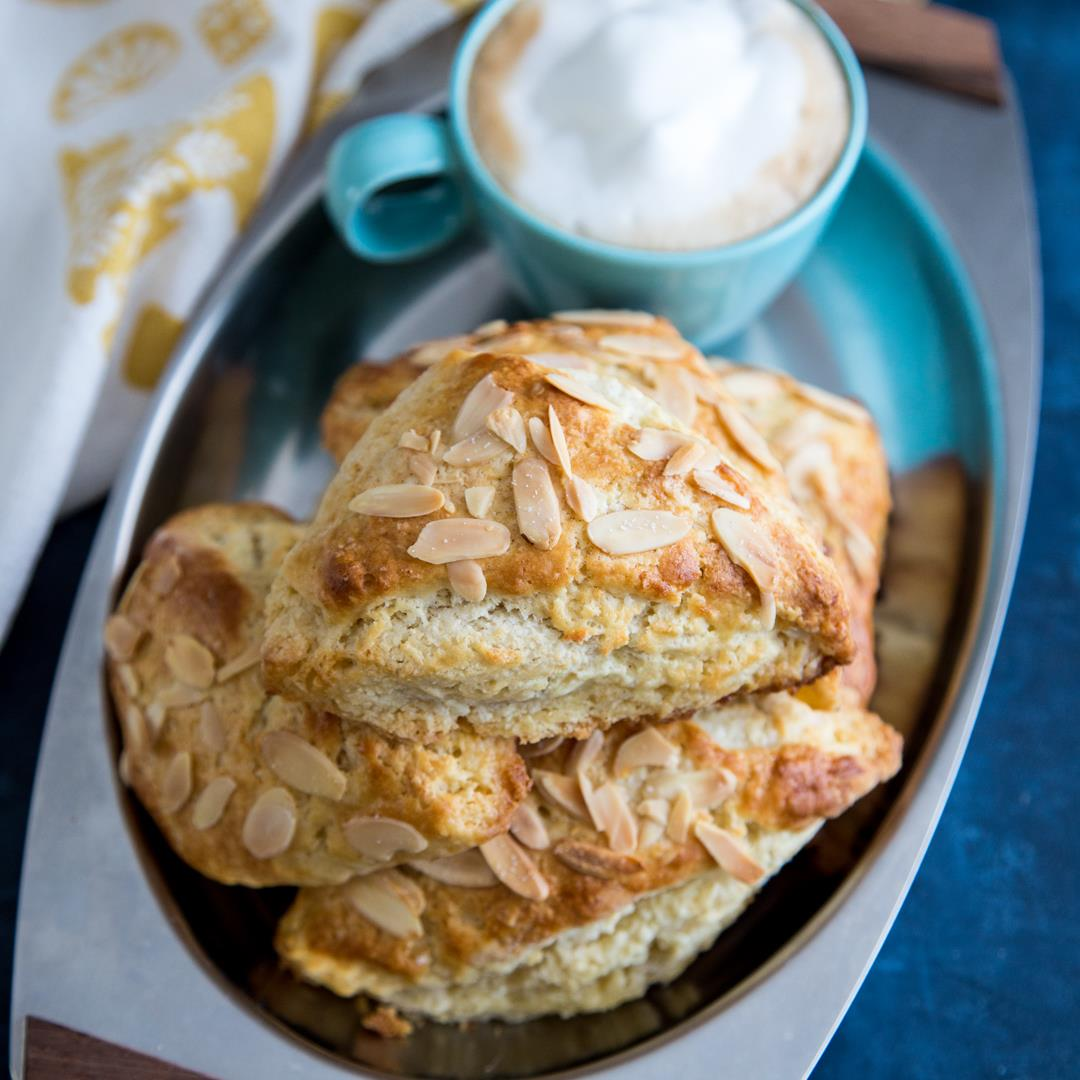 Almond Scones with Almond Paste Filling