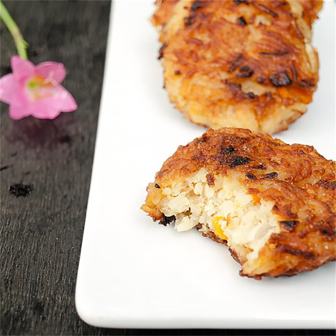 Rice Patties with Carrots
