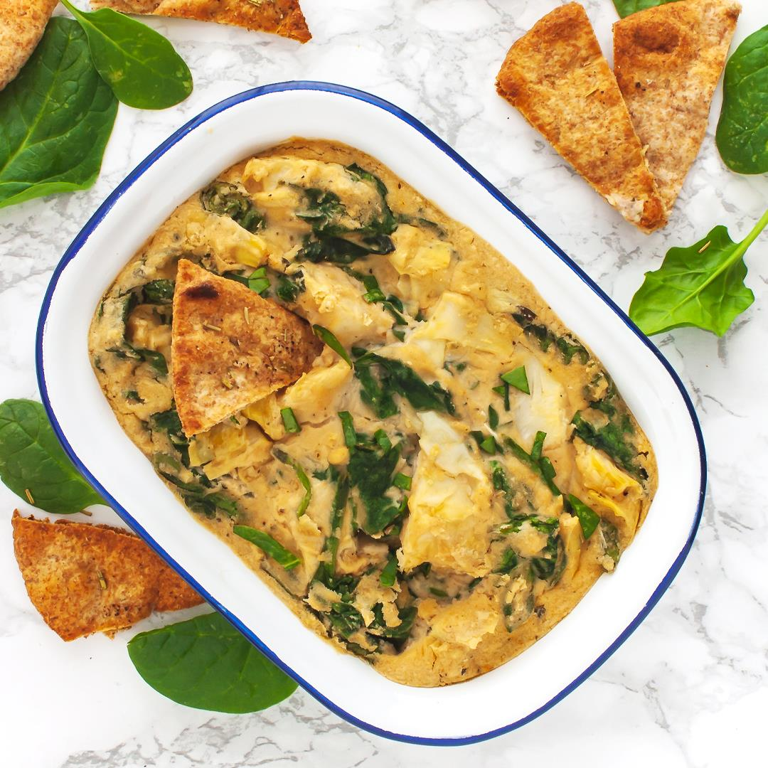 Vegan Spinach and Artichoke Dip with White Beans