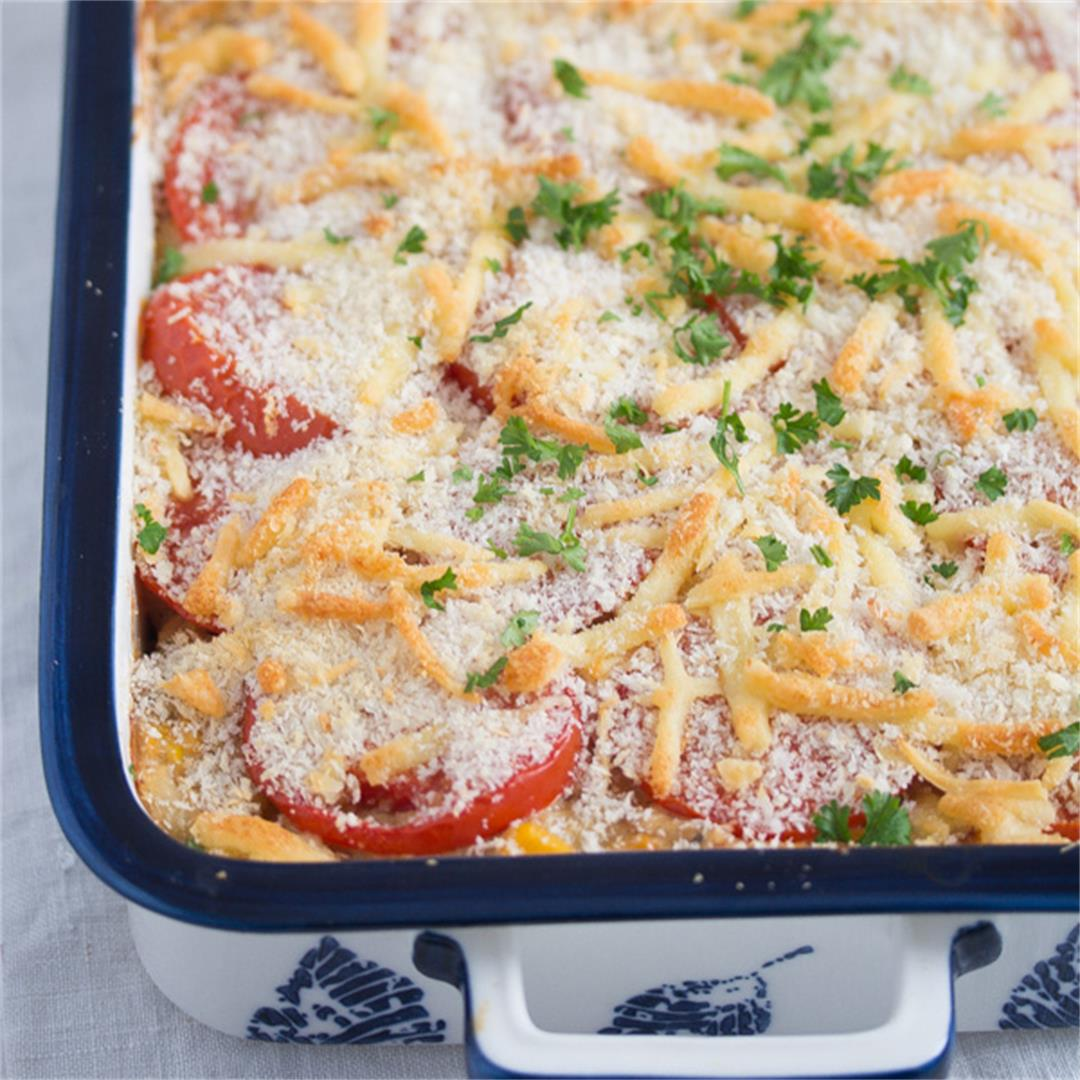 Cheesy Tuna Noodle Casserole from Scratch