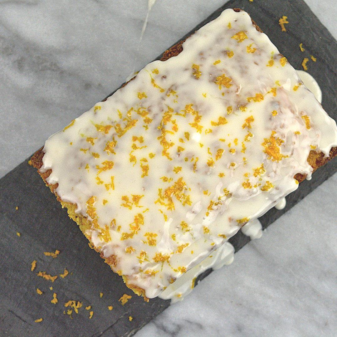 Semolina Carrot Cake with Orange Glaze