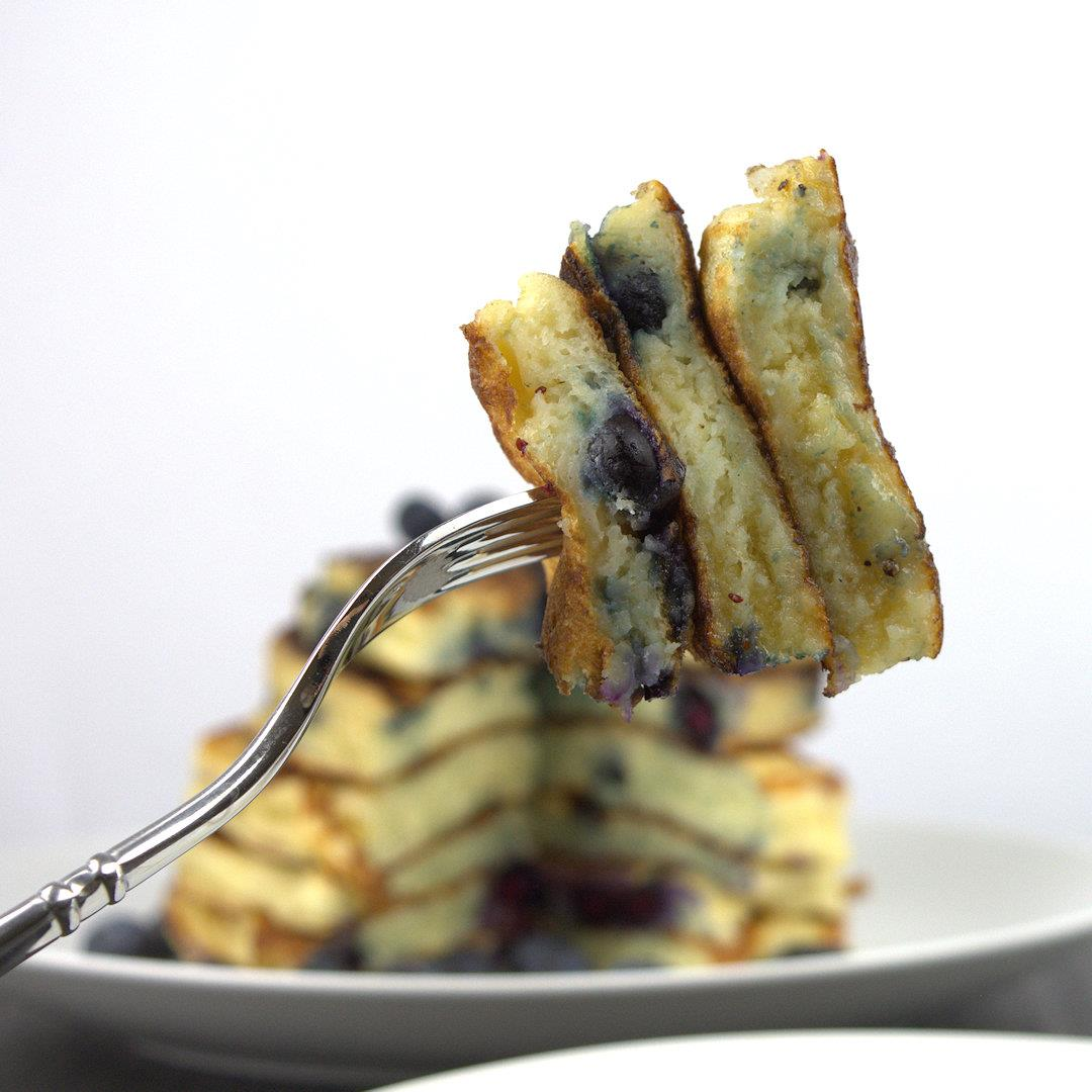 All American Blueberry Buttermilk Pancakes