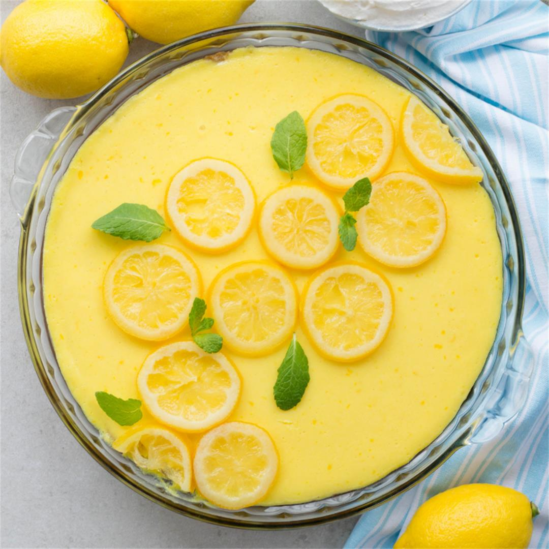 Magnolia Lemon Pie with Candied Lemon Slices