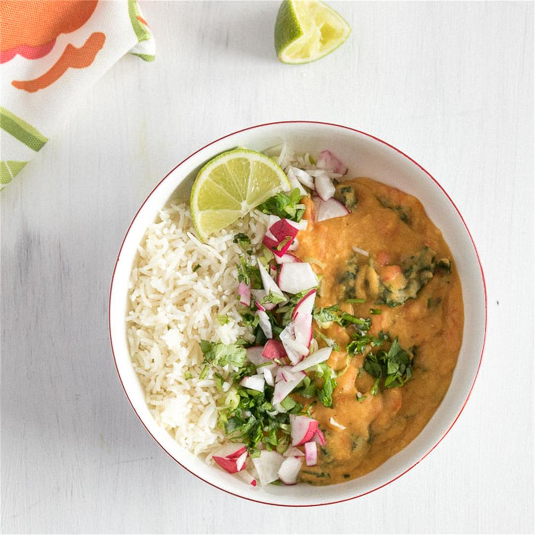 Coconut Red Lentil Curry {Instant Pot Recipe}