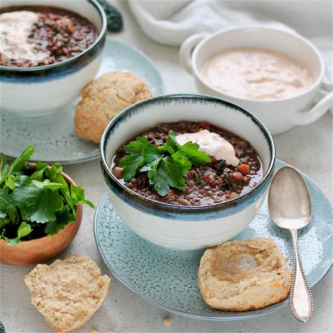 Vegan Lentil Soup (Instant Pot Lentil Soup)