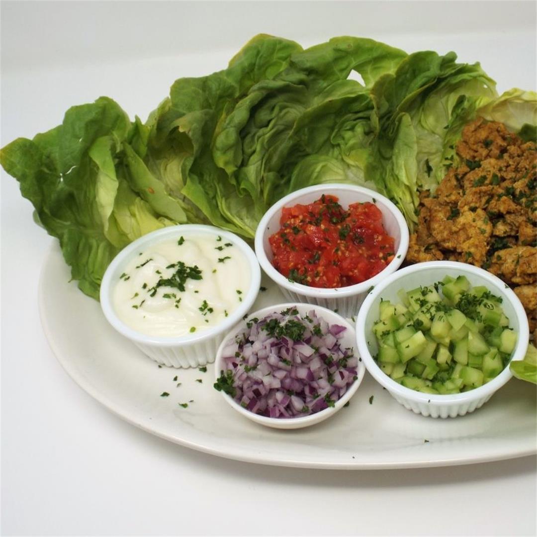 Shwarma Style Chicken Lettuce Wraps