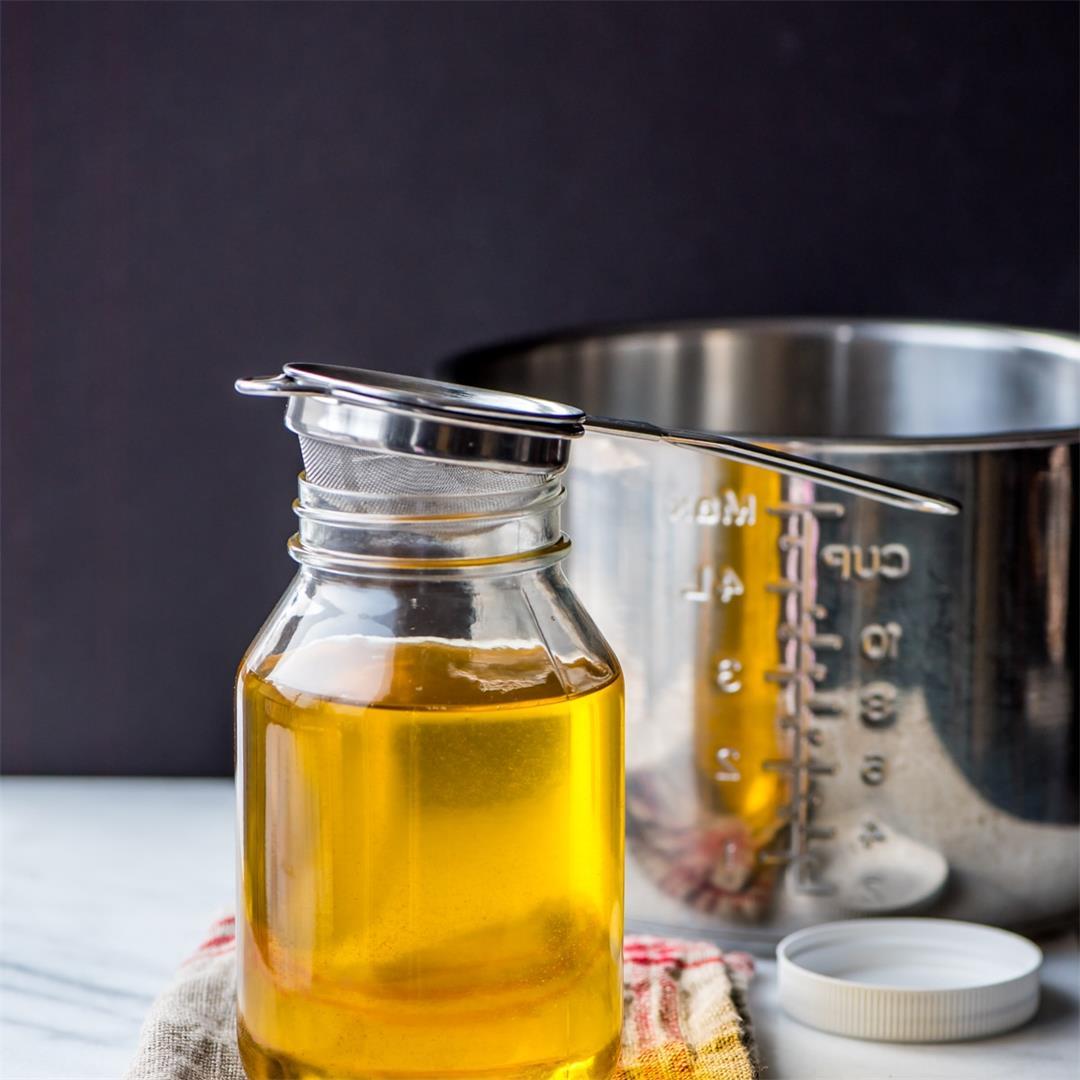 Homemade ghee in Instant Pot using butter