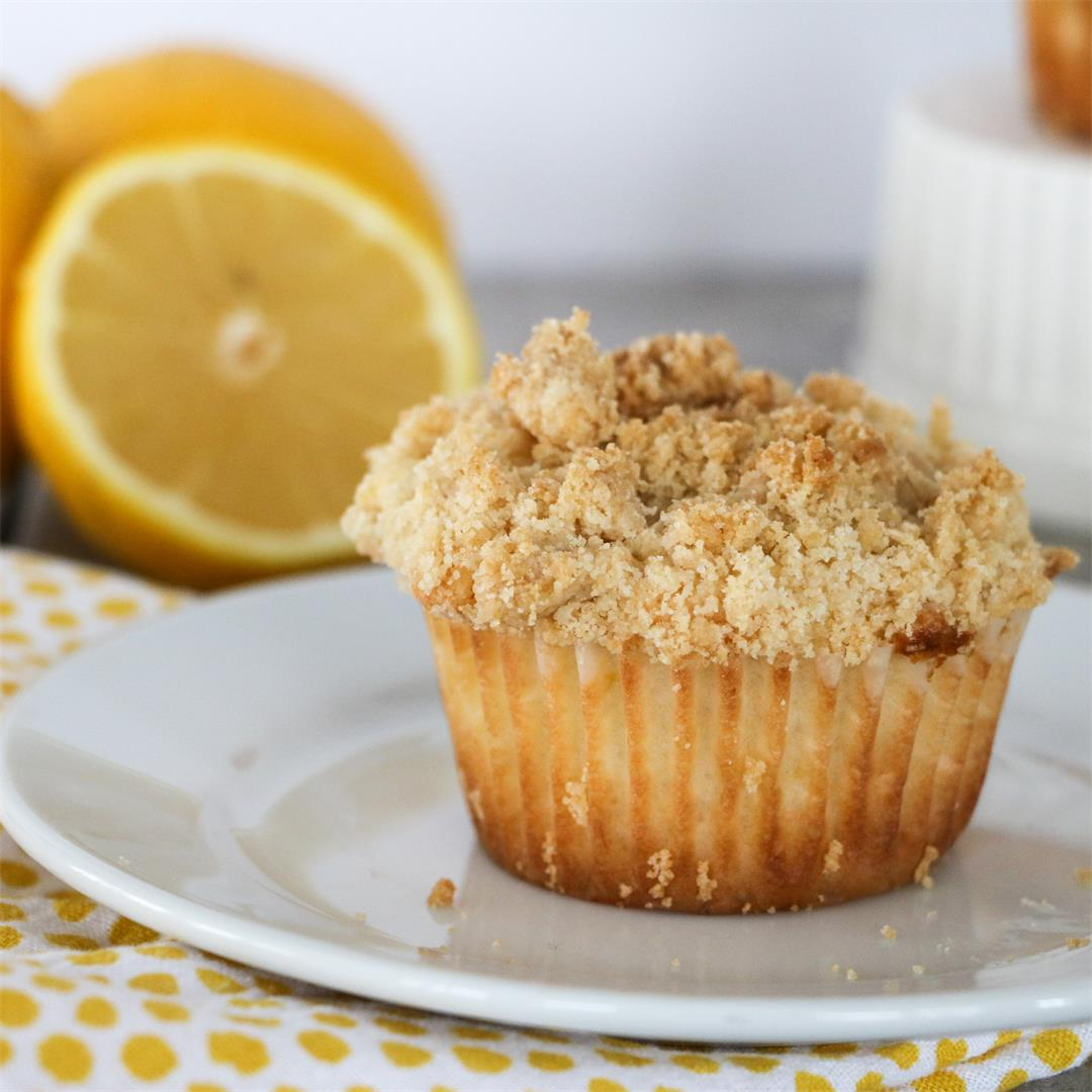 Cream Cheese Lemon Streusel Muffins