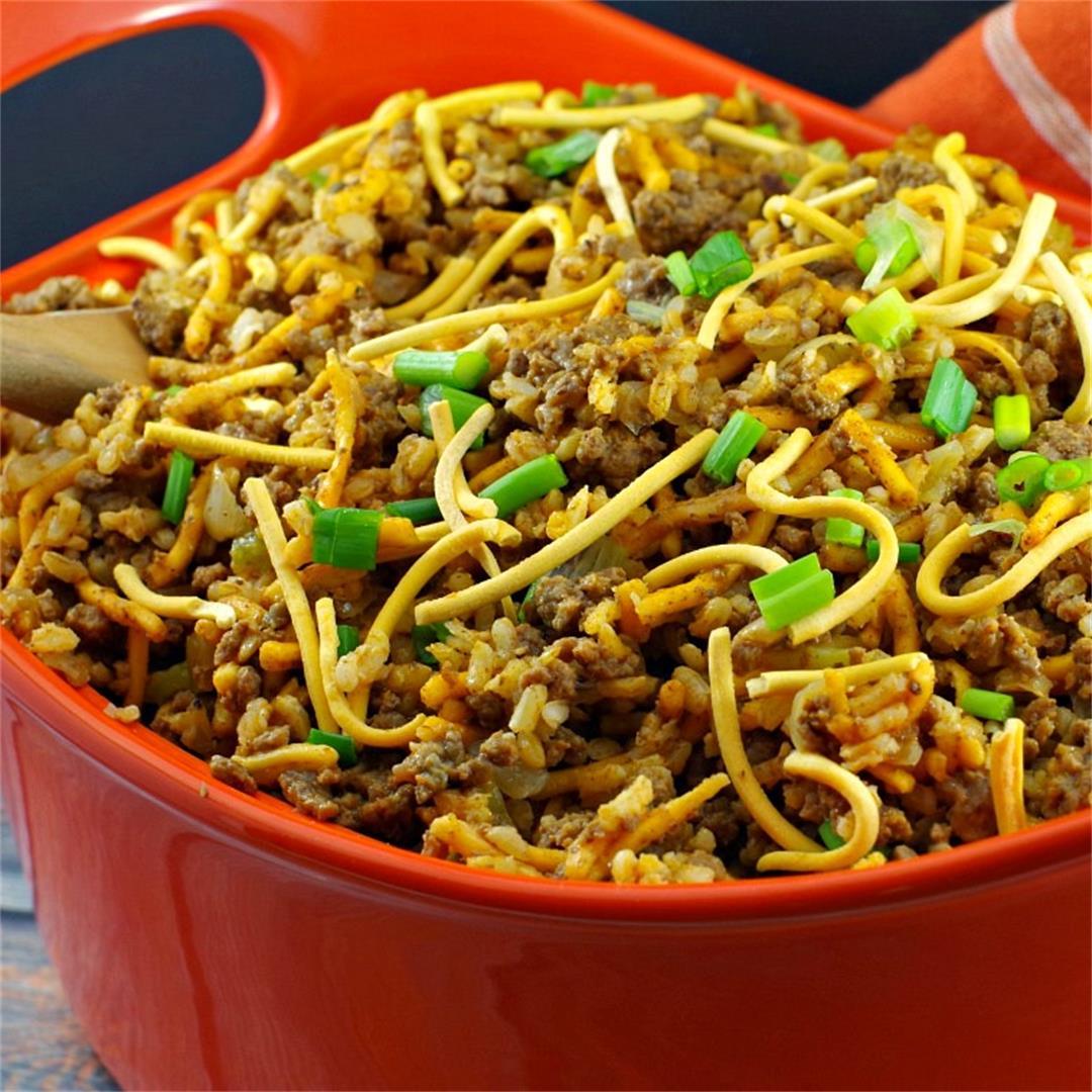 Chow Mein Minnesota Hotdish Casserole