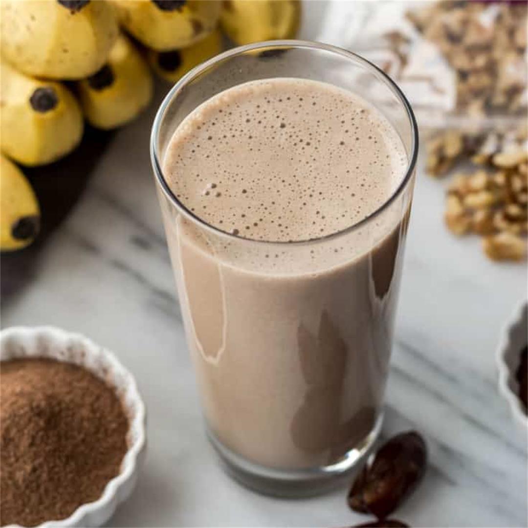 Coffee walnut smoothie