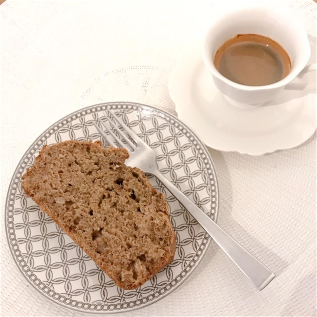 Easy banana bread which is moist and full of flavour