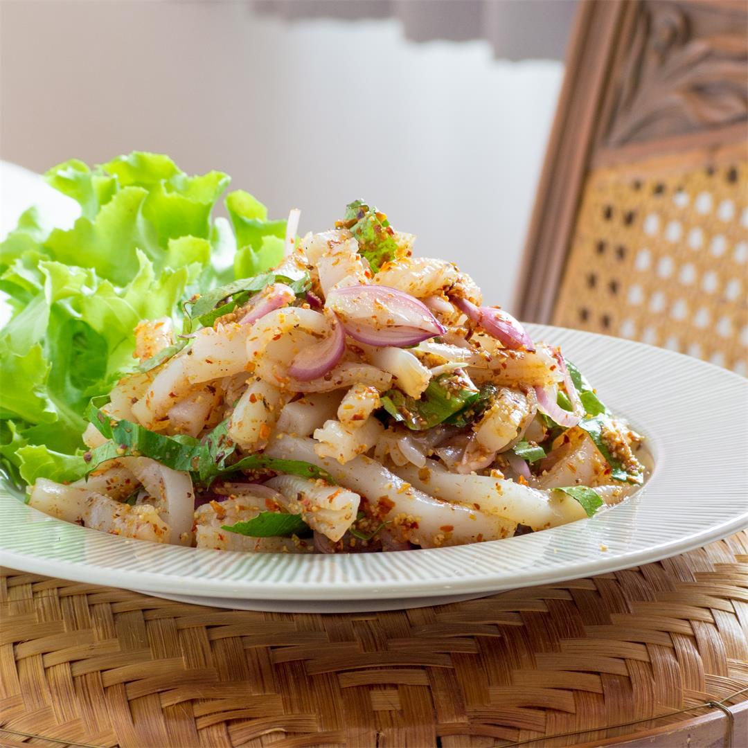 Vegan Konjac Noodle Laab (Thai Salad)