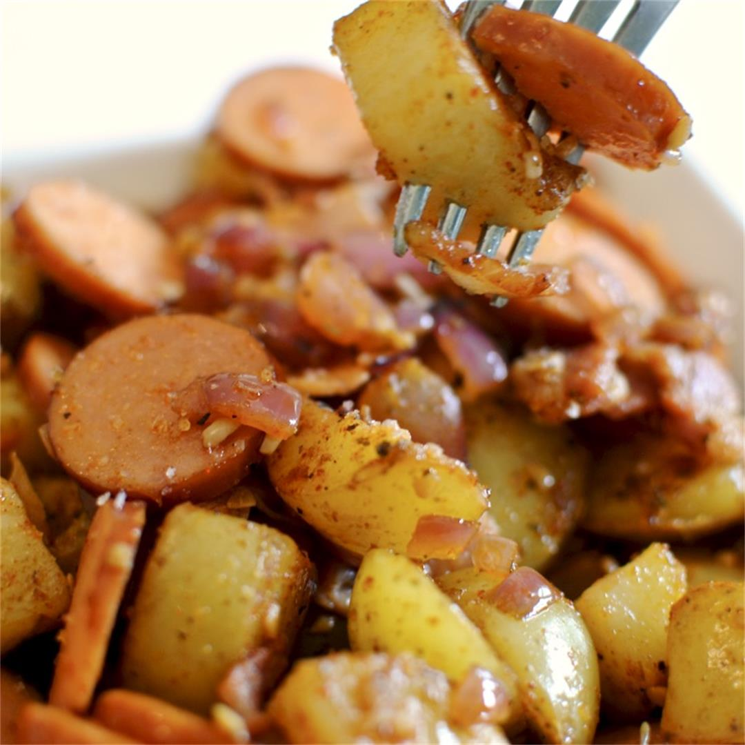 Smoked Sausage & Bacon Breakfast Potatoes