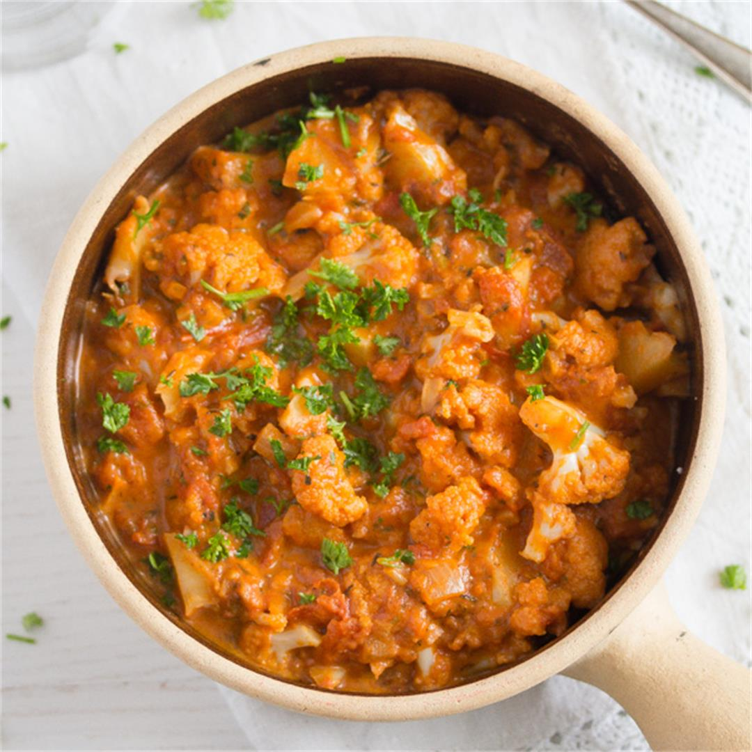 Cauliflower In Tomato Sauce – Vegan